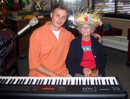 Music therapy at an assisted living home